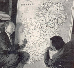 """Harvard anthropologists, Earnest A. Hooton and Conrad Arensberg discussing their racial survey of Ireland, 1932-1936."". Image by Ms. Mairead Carew."