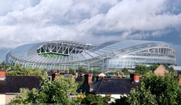 """The new stadium on Landsdowne Road"". Image by Dr. Thaddeus Philip Lawton."