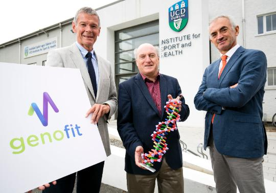 Pictured a‌t UCD are; Professor Colin Boreham, Director, UCD Institute for Sport and Health, Dr Sean Ennis, co-founder and CSO, Genomics Medicine Ireland and Director of UCD's Academic Centre on Rare Diseases and Professor Giuseppe De Vito, Head, UCD School of Public Health, Physiotherapy and Sports Science (Image: Karl Hussey, Fennell Photography)