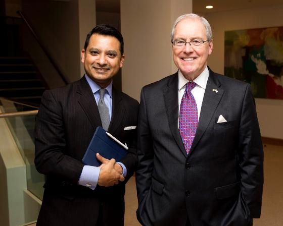 L-R Mr. Mr. Asim Sheikh BL, US Ambassador, His Excellency Kevin O'Malley