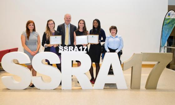 SSRA17 Finalists with the Dean