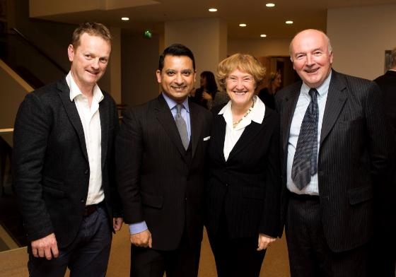 L-R Prof Brendan Loftus, UCD Conway, Mr. Asim Sheikh BL, Ms. Mary O'Toole SC, Mr. Turlough O'Donnell SC