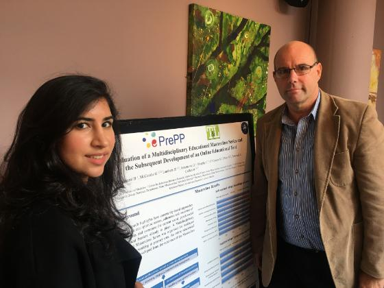 Bashayer Almaazmi (UCD Medicine Stage 4) and Dr Geoff McCombe (UCD Medicine Primary Care Research Group)