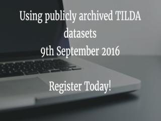 TILDA Data Users Workshop
