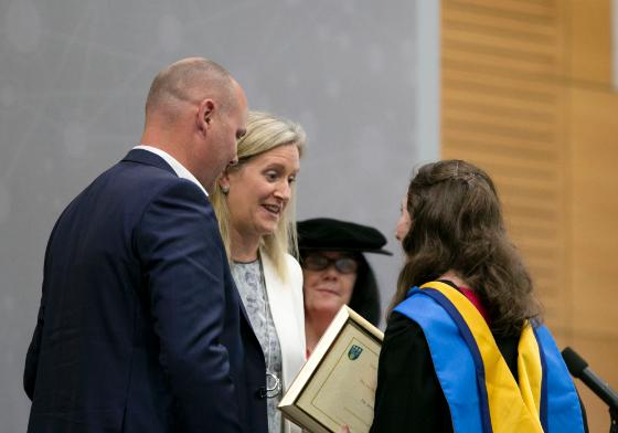 Dr Jennifer Bitton Received Lorcan Miller and Eimear Walsh Medals