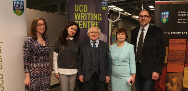 President Michael D Higgins and Writing Centre Team