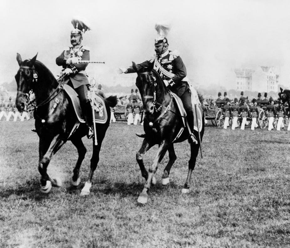 Kaiser Wilhelm II and one of his generals in 1914. PA Archive
