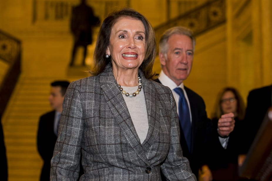 US House Speaker Nancy Pelosi leads a Congressional delegation to Ireland in April 2019. Liam McBurney/PA Wire/PA Images