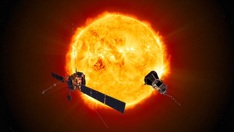 Solar Orbiter and Parker Solar Probe (Solar Orbiter: ESA/ATG medialab; Parker Solar Probe: NASA/Johns Hopkins APL)