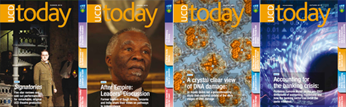 Collage of UCD Today Magazine Front Covers