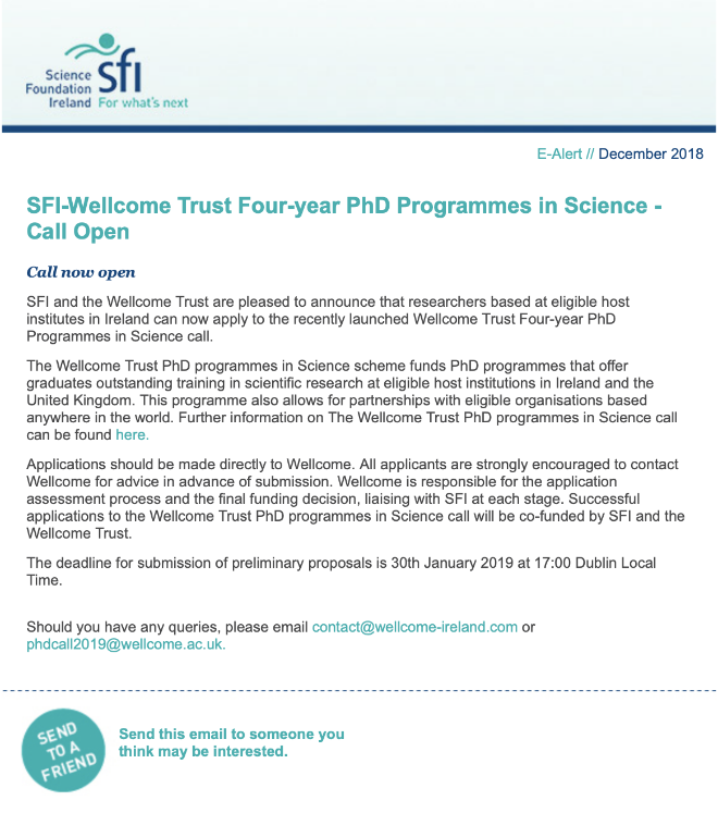 sfi-wellcome-trust-call-now-open